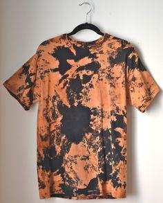 Bleached Tie Dye T-Shirt Size Medium. $20.00, via Etsy.