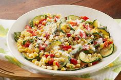 This smart skillet recipe celebrates the flavors of fresh seasonal ingredients like corn and zucchini.