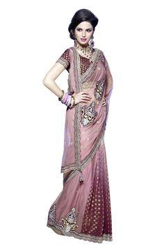 Buy Pink Net Designer Saree Online in low price at Variation. Huge collection of Designer Sarees for Wedding. #designer #designersarees #sarees #onlineshopping #latest #lowprice #variation. To see more - https://www.variationfashion.com/collections/designer-sarees