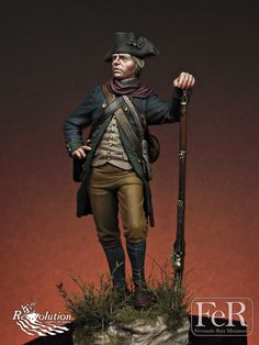 From official web page: http://ferminiatures.com/ Virginia Militia, Guilford Courthouse, 1781 Scale: 75 mm Material: resin Parts: 10 Sculpture: Oriol Quin Painting: Fernando Ruiz