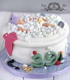 Relaxing bath cake