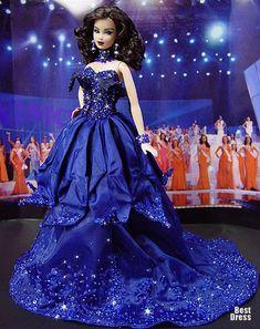 Miss France (dress Dior)  | Ninimomo's Barbie. Europe. 2009/2010