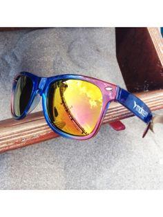 moinsen® Wayfarer Sonnenbrille, blue-rose