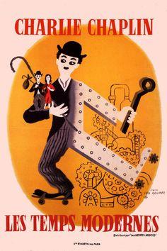 TIEMPOS MODERNOS (Modern Times) Charles Chaplin. Crítica a la industrializaión, el hombre convirtiéndose en máquina.