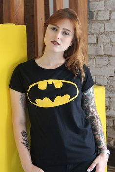 Camiseta Feminina Batman Logo Clássico 1c348f9217d