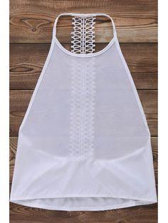 Backless Solid Color Tank Top #womensfashion #pinterestfashion #buy #fun#fashion