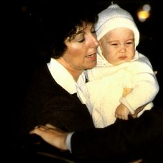 """lovelydianaprincessofwales: """" Rare picture of baby Prince William held by his nanny """" Charlotte does look like William."""