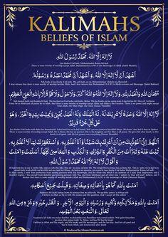 Beliefs Kalma's Of Islam Duaa Islam, Islam Hadith, Allah Islam, Islam Quran, Alhamdulillah, Quran Surah, Islam Muslim, Quran Quotes Inspirational, Islamic Love Quotes