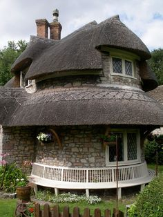 A circular cottage in Blaise Hamlet, north west Bristol. The cottages are now owned by the National Trust and are still occupied but can be viewed from the outside by the public.