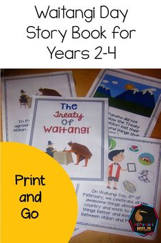A story book for New Zealand years (aged that introduces and explains the Treaty of Waitangi and Waitangi Day in language young children can understand. Ideal for the start of your discussion on Waitangi Day. Reading Groups, Guided Reading, Teaching Kids, Teaching Resources, Treaty Of Waitangi, Waitangi Day, Class Games, Day Book, Stories For Kids