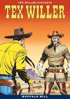 Tuore Tex-kirjasto nyt kirjakaupoissa. Lännen legendat kohtaavat! #sarjisparhaus #TexWiller #Western