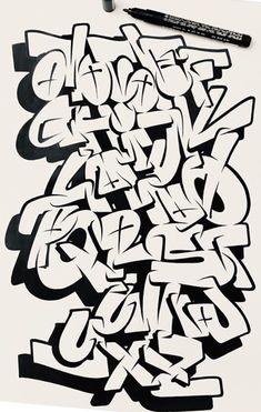 Graffiti Alphabet Styles, Graffiti Lettering Alphabet, Graffiti Words, Tattoo Lettering Fonts, Graffiti Tagging, Graffiti Designs, Graffiti Characters, Graffiti Drawing, Street Art Graffiti