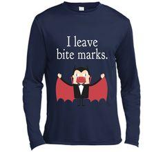 I Leave Bite Marks Funny Cute Vampire Scary Teeth Tee Shirt