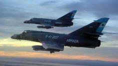 aviones de combate   el avión mas avanzado de argentina en la actualidad es el Super Etender:
