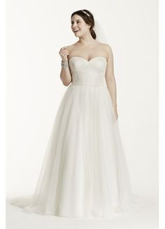 Strapless Ball Gown with Lace Corset Bodice 9WG3633