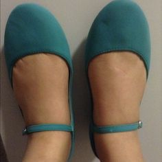Sky blue suede mary janes. Never worn sky blue mary janes. Dollhouse Shoes