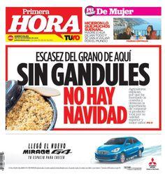 En portada: Escasez de gandules en plena Navidad!...