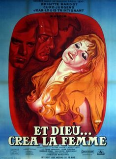 """French language poster for """"And God Created Woman"""" starring Brigitte Bardot"""