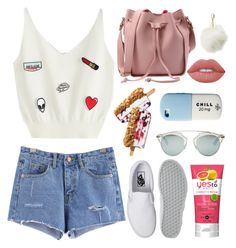 """Hot day outside"" by dianav8 ❤ liked on Polyvore featuring Vans, Christian Dior, Charlotte Russe, Valfré and Lime Crime"