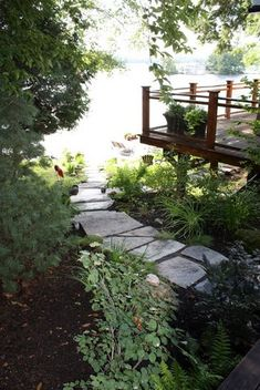 Stokholm Building Co. Craftsment And Contractors, In Muskoka, Bracebridge Ontario. Garden Bridge, Landscaping Ideas, Ontario, Trail, Cottage, Exterior, Outdoor Structures, Cabin, Landscape