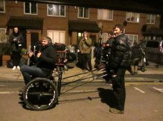 The fun never stops on set - even after nightfall!