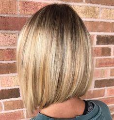 Sleek Blonde Balayage Lob Bob Haircut For Fine Hair, Bob Hairstyles For Fine Hair, Men's Hairstyle, Wedding Hairstyles, Formal Hairstyles, Hairstyle Ideas, Easy Hairstyles, Balayage Lob, Inverted Bob Haircuts