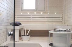 kylpyhuone,sauna,kylpyhuoneen muutos,valkoinen sauna