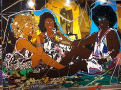 Mickalene Thomas | African Prints in Fashion: Go See: Mickalene Thomas