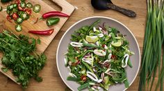Spicy Grilled Squid and Green Bean Salad Recipe - NYT Cooking