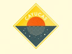 Recently designed this badge logo for SoCal based Cayucas. Serious summer vibes going on in there debut album. Moon Design, Design Art, Beach Design, Sunset Logo, Sunset Art, Welcome Logo, Badge Logo, Sun Designs, Poster S