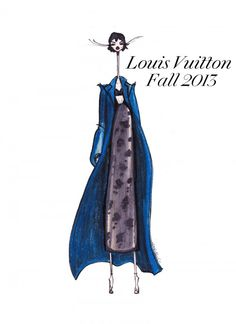 Louis Vuitton Fall 2013 Illustration by Jamie Lee Reardin