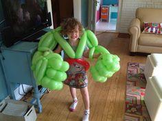 Annapolis Maryland Balloon Artist, Sculptor, Twister & Magician – The Hulk Balloon Toys, Balloon Hat, Balloon Dress, Halloween Balloons, Halloween Party Costumes, Ballon Animals, Annapolis Maryland, Superhero Party, Balloon Decorations