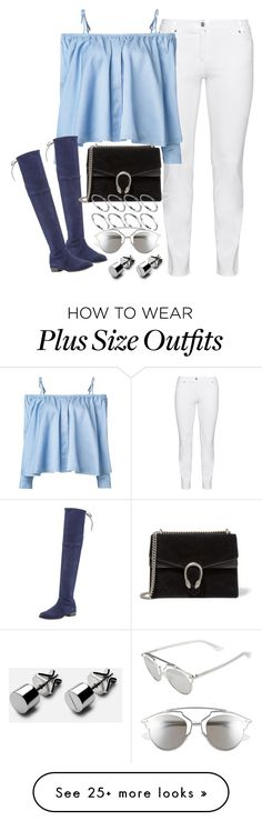 """Untitled #1753"" by sarah-ihab on Polyvore featuring Steilmann, Sandy Liang, Stuart Weitzman, Gucci, ASOS and Christian Dior"