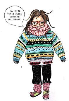 invierno del terror #watercolor #illustration #marcelillapilla #pilla #portrait #winter