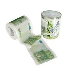 Rollo Papel WC 100 Euros / 100 Euro Toilet Roll · Tienda de Regalos originales UniversOriginal Gadgets, The Originals, Paper, Products, Shopping, Gift Shops, Original Gifts, Objects, Bath