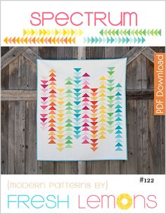Spectrum Quilt Pattern - PDF