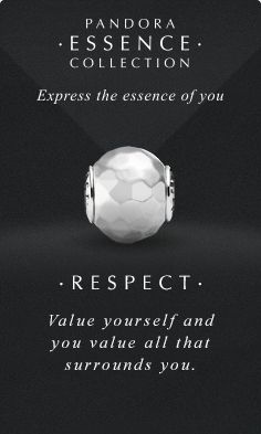 Express the essence of you. #PANDORAessencecollection #PANDORAcharm #Respect