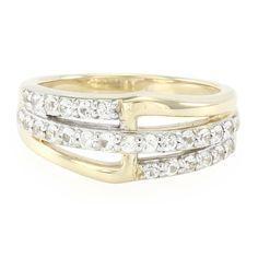 Alliance style contemporain en or sertie de Saphirs blancs - réf 7256RR - Bijoux de mariage - Juwelo Bijouterie
