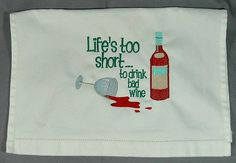 hahaha! so true! Towel kitchen wine decor by SanmarnaStyle on #Etsy