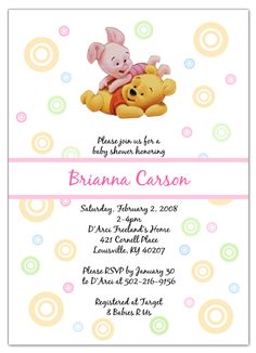 Winnie the pooh tigger baby shower invitation by thepartysmarty winnie the pooh and piglet baby shower invitations filmwisefo