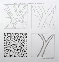 Easy Drawings Sue's tangle trips: Fall and Hollitwig tangleation Art Doodle, Mandala Doodle, Doodle Art Designs, Tangle Doodle, Tangle Art, Zentangle Drawings, Doodles Zentangles, Doodle Drawings, Easy Drawings