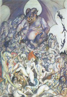 Lucifer, Satan & other Devils: The Occult art of Rosaleen Norton, the Witch of Kings Cross Rosaleen Norton, Satanic Art, Exotic Art, Demon Art, Occult Art, Sad Art, Dark Fantasy Art, Horror Art, Female Art