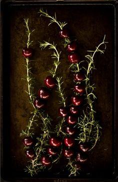 Rosemary roasted cherries