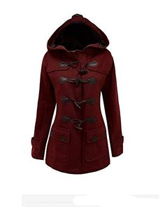 New Trending Outerwear: Womens Winter Oversized Wool Blended Pea Coat Hoodie Duffle Jacket Wine Red M. Women's Winter Oversized Wool Blended Pea Coat Hoodie Duffle Jacket Wine Red M   Special Offer: $37.99      199 Reviews Scottliver Paul wool blended pea coat is one of the soft texture, clipping decent, extraordinary quality and colorful that is your go-to Jackets for outdoor...
