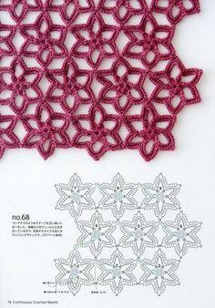 stricken und häkeln Book: Continuous Crochet Motifs 2016 (seamless crochet motifs) - Knit nets, knitting needles and crochet hook - CREATIVITY OF HAND. Crochet Motifs, Crochet Diagram, Crochet Stitches Patterns, Crochet Chart, Crochet Squares, Diy Crochet, Knitting Stitches, Crochet Hooks, Stitch Patterns