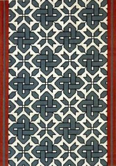 An old Russian pattern from Princess S. Shakhovskaya's collection of fabric and embroidery. 1880. #folk #Russian #patterns