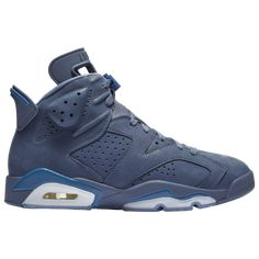 """Air Jordan 6 Retro """"Diffused Blue"""" is releasing on in adult and grade school sizing. For a closer look at this cool and crisp new colorway, tap the link in our bio. Custom Sneakers, Sneakers Nike, Tenis Basketball, Zapatillas Jordan Retro, Air Jordan Vi, Jordan Retro 6, Jordan Model, Foot Locker, Nike Huarache"""