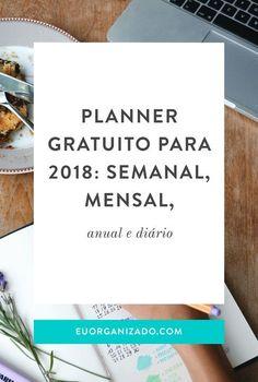 Planner #Planejamento Planner 2018, Agenda Planner, Life Planner, Planner Diy, Planners, Personal Organizer, Instagram Blog, Planner Organization, Paper Store