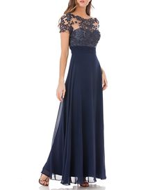 a290d9c46e Shop for JS Collections Illusion Beaded A-Line Gown at Dillards.com. Visit