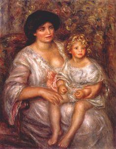 Pierre-Auguste Renoir - Madame Thurneyssen and her Daughter